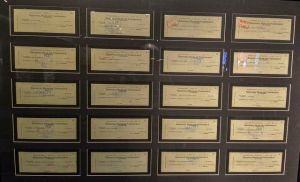 Cheques Elvis gave to good causes