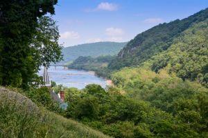 Where the Shenandoah River meets the Potomac River.