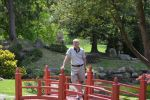 Simon in the Japanese garden at Sonnenberg Gardens.
