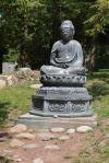 A Buddha at Sonnenberg Gardens.