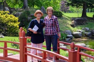Sandra and Dot at the Japanese garden