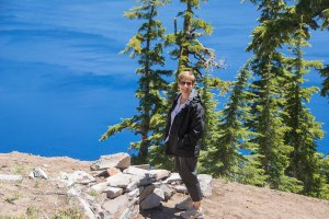 Sandra at Crater Lake