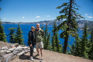 Simon and Sandra at Crater Lake
