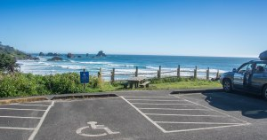 This is where Bella and her friends parked in the van at La Push