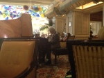 The pianist at the Petrossion Bar at the Bellagio