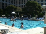 One of the pools at the Bellagio