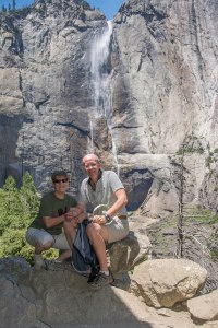 Upper Yosemite Falls - this is where we should have turned round!!