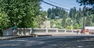 The bridge that Bella and Charlie drive over when she first arrives in Forks