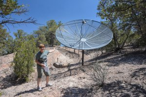 A dish this big and they still can't get Sky TV!!
