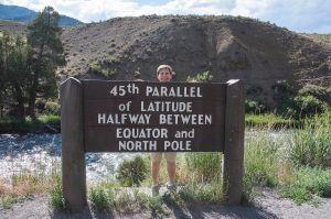 Me at the 45th Parallel stood on tiptoe!
