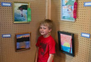 Jake with his sunset picture for which he won second prize!