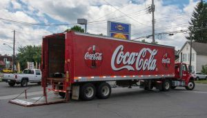 I've been trying to get a shot of a Coca Cola truck all holiday - and here it is at last!