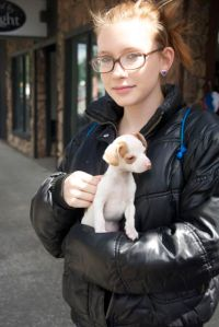 Shawna and the puppy