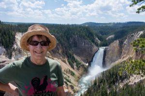 Sandra at Yellowstone Lower Falls
