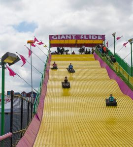A giant slide at the Fair