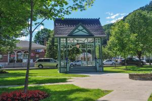 The bandstand at Hammondsport