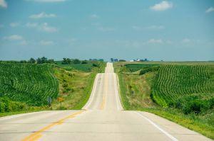 One of those dusty Iowa roads!