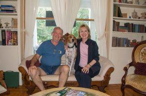 J, Hank the dog and Gloria
