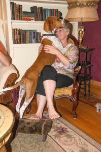 Hank sure loves his Mum