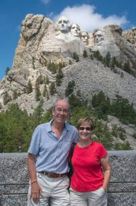 Us in fron to Mt. Rushmore