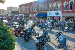 Bike night in Winterset