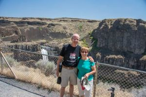 Us at the Palouse Falls