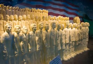 The choir sculpted in butter