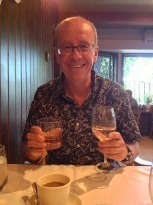 Si with his whisky and wine