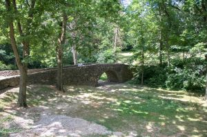 The stone bridge where Francesca and Robert go for their picnic together
