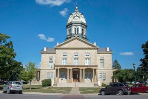 The Courthouse in Winterset Town Square