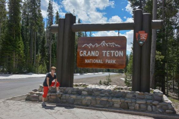 Entering Grand Tetons