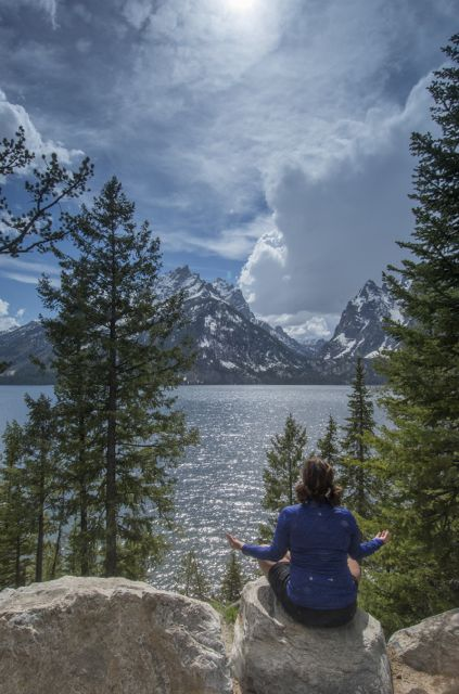 Meditating by Jenny Lake