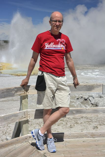 Simon at Clepsydra Geyser