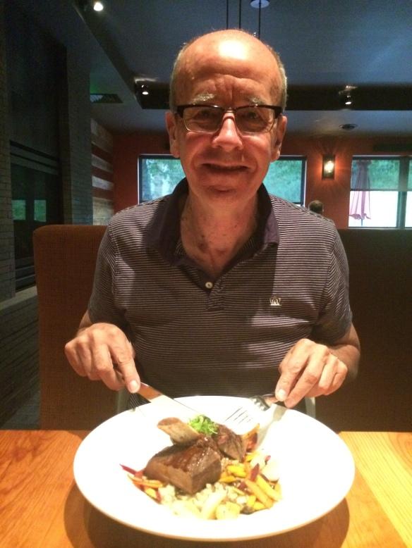 Simon at dinner