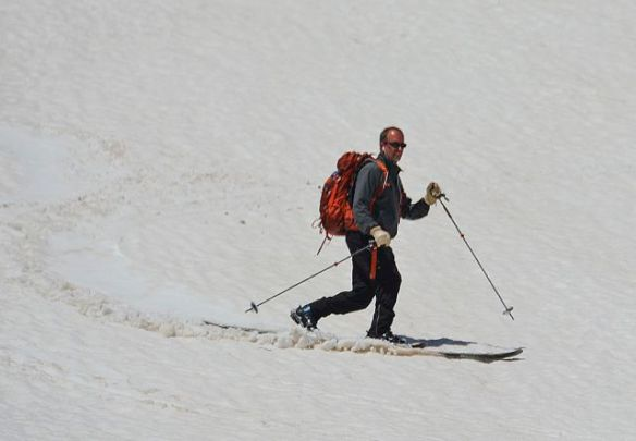 Skier at Dunraven Pass