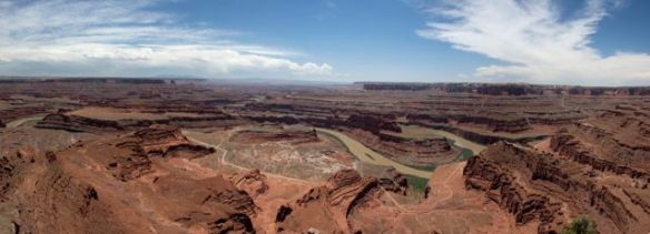 Panorama shot of Dead Horse Point