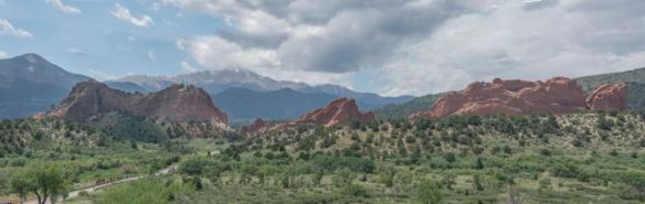 Panorama shot of the Garden of the Gods