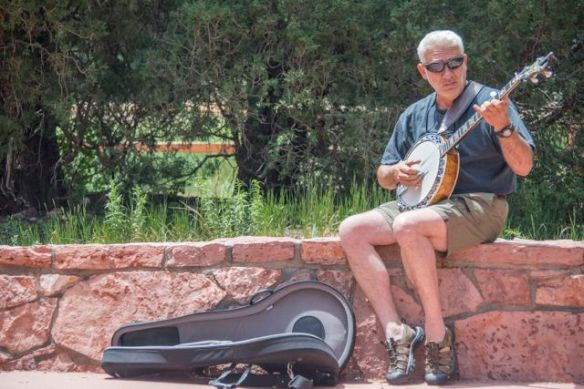 Busker in the Garden of the Gods