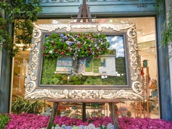Flower art in the Bellagio Atrium