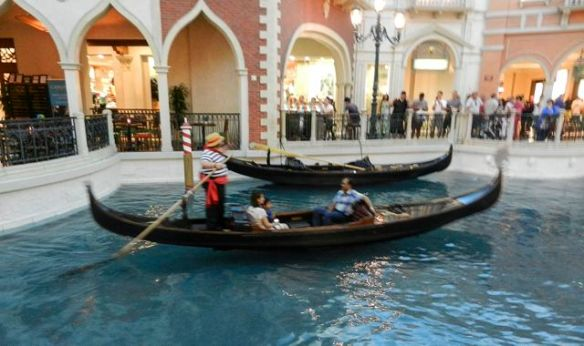 Gondola at The Venetian Hotel