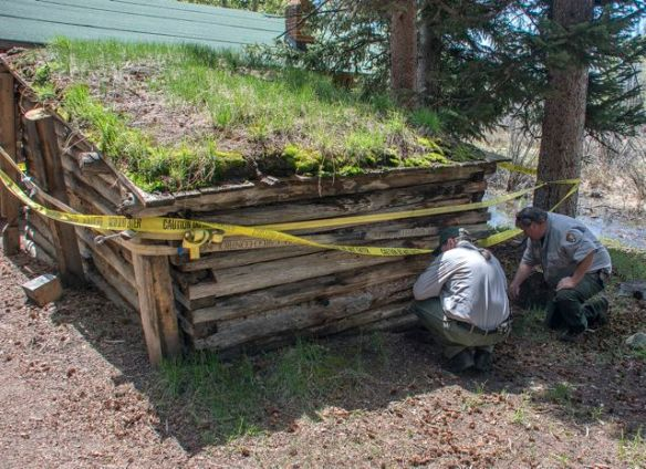 A summer National Park project to restore the ice house