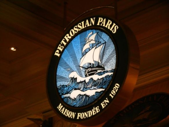 the Petrossian Bar at the Bellagio