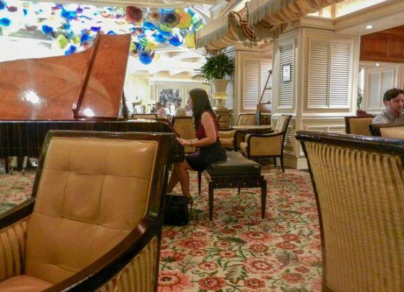 Marta playing at the Petrossian Bar