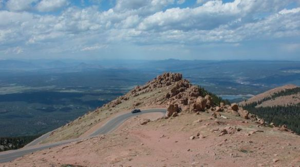 Winding Roads on Pikes Peak Highway