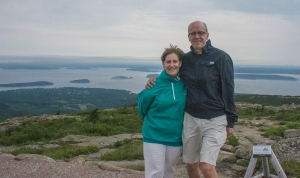 Us two on top of Cadillac Mountain