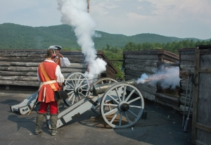Cannon Shot at Fort William Henry