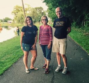 Dot, Nat and Si at Aldridge Park