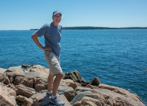 Si (I'm free!, it's a British joke) at Bass Harbour Head Lighthouse