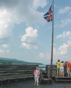 Sand Flying the Flag at Fort William Henry