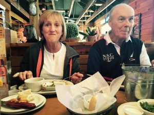 Oh My! Dot and JB at the Texas Roadhouse